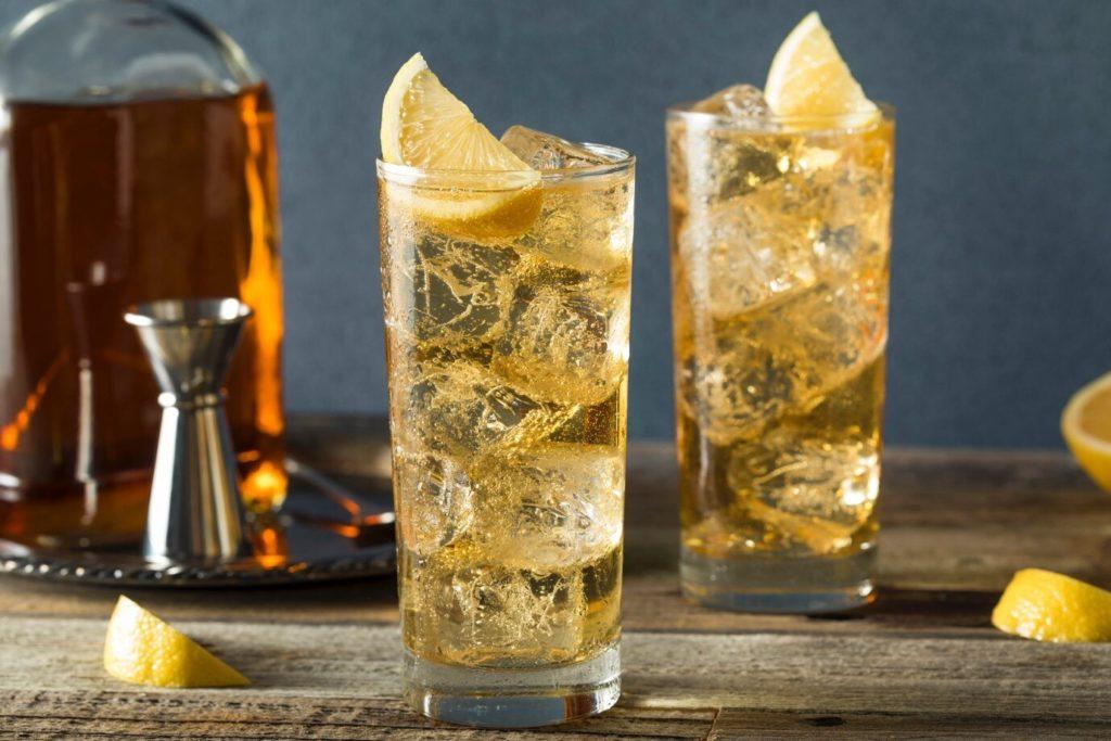 Whiskey Ginger Keto Drink