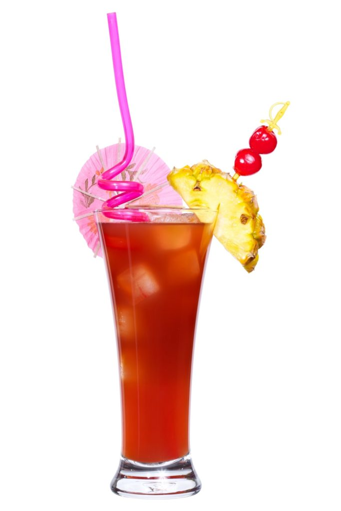 Singapore Sling with Pineapple