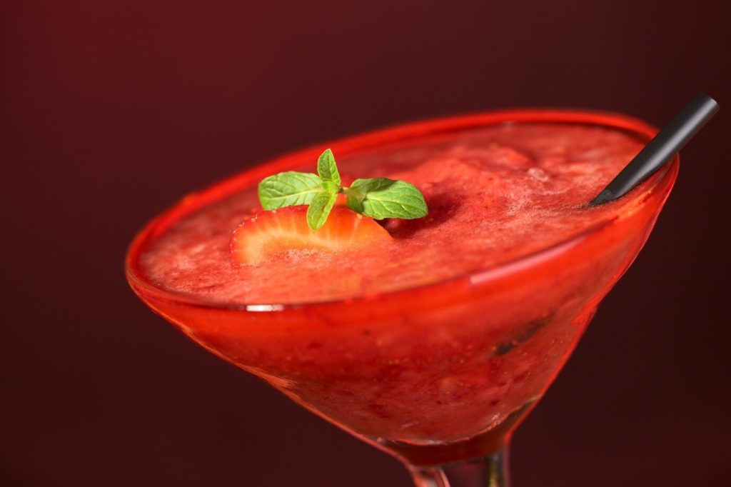 Strawberry Daiquiri Recipe with Ingredients