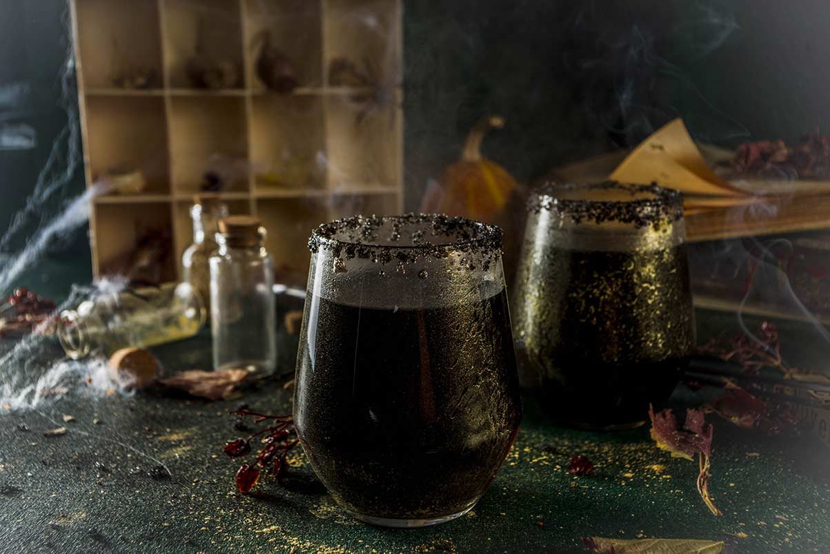 Unique Black Halloween Cocktail