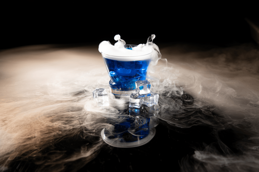 Blue Dry Ice Cocktail