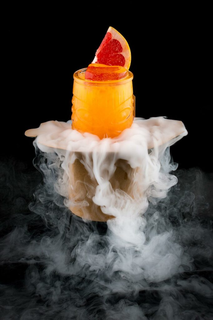 Spooky Blood Orange Dry Ice Cocktail