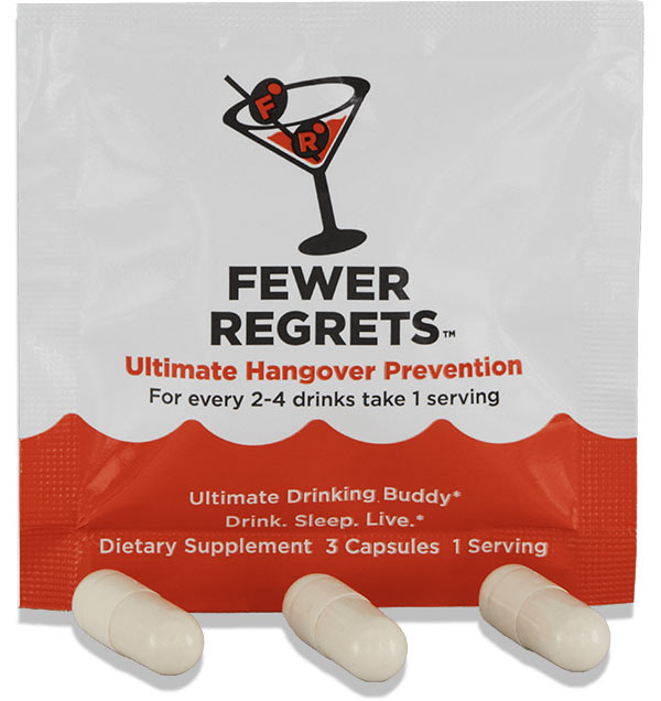 Fewer Regrets Packet with Capsules